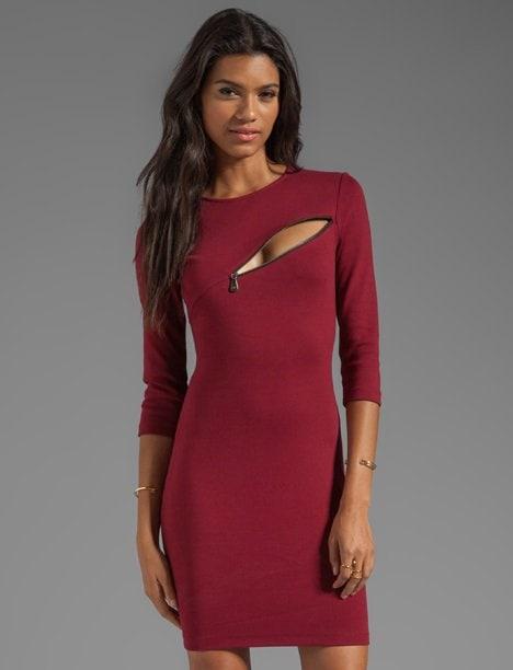 McQ Alexander McQueen Quarter-Sleeve Zip Dress