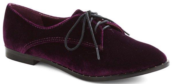Modcloth Purple Make Mine Malbec Flats