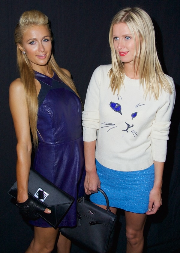 Paris and Nicky Hilton Charlotte Ronson NYFW Spring 2014