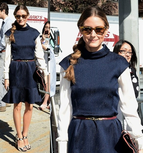 Olivia Palermo at the Carolina Herrera Spring 2014 presentation during New York Fashion Week in New York City on September 9, 2013