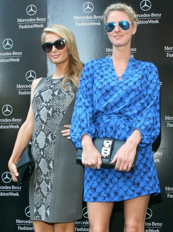 Paris and Nicky Hilton DVF Spring 2014 NYFW