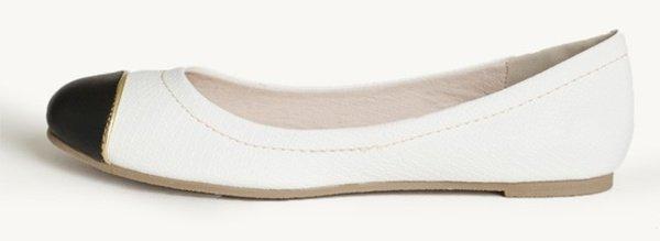 restricted cap toe flats