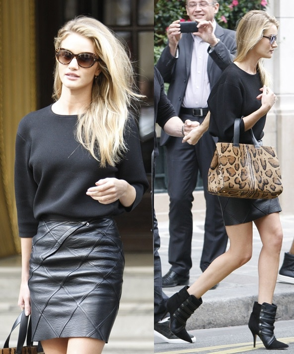 f03b8e3657f Rosie Huntington-Whiteley Is Fashion Forward with Isabel Marant Boots