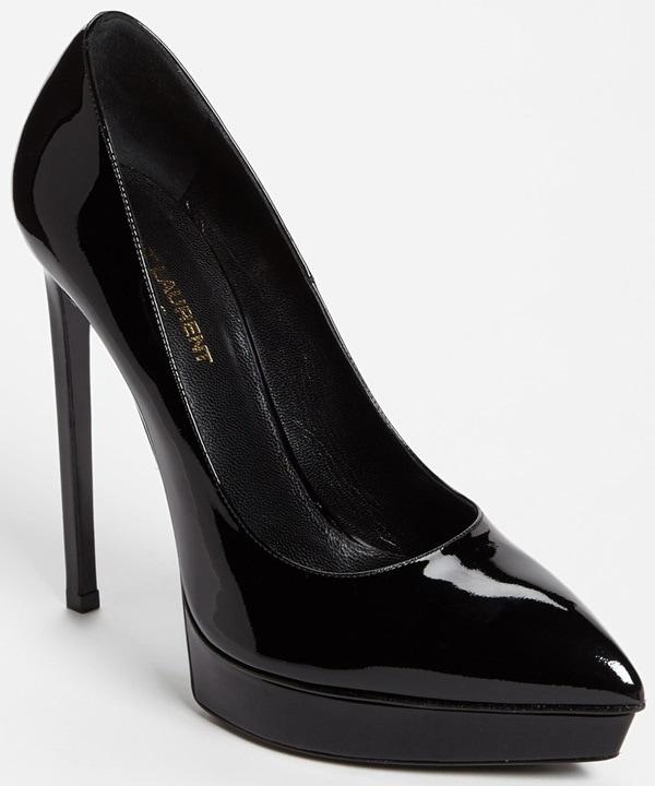 """Saint Laurent """"Janis"""" Pumps in Black Patent Leather"""