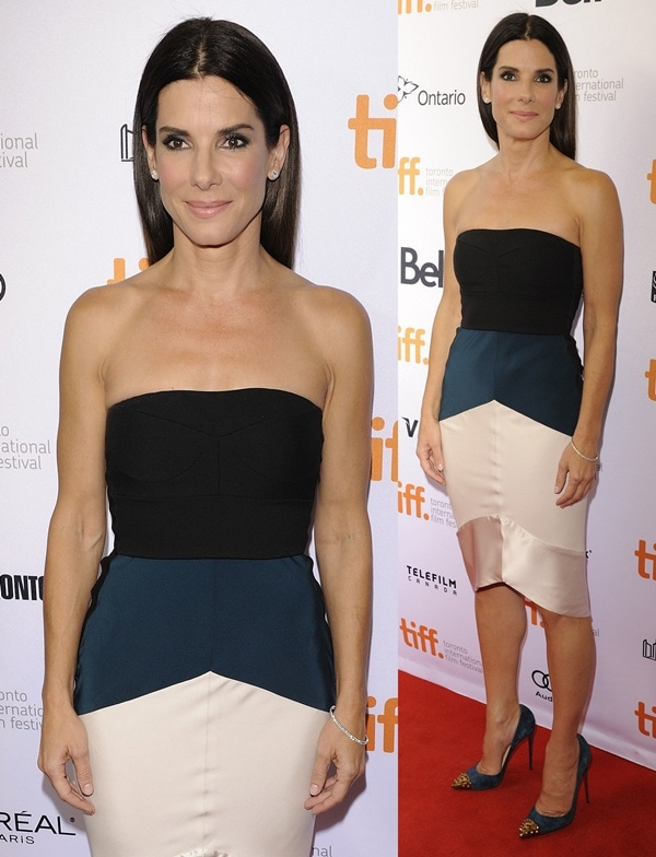 Sandra Bullock at the premiere of 'Gravity' at the Toronto International Film Festival in Toronto, Canada, on September 8, 2013