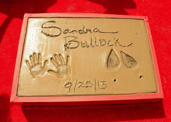Sandra Bullock Hand and Footprint Ceremony