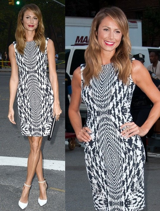 Stacy Keibler Monique Lhuillier Spring 2014 NYFW