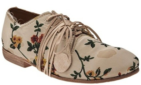 Uma Wang Floral Lace-Up Oxfords