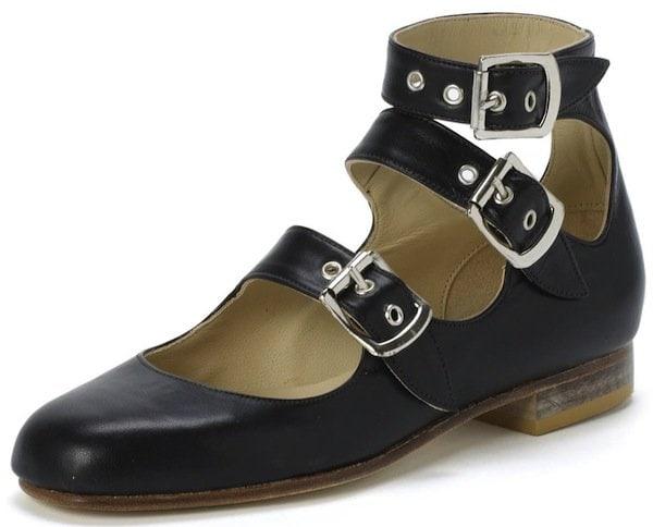 """Vivienne Westwood """"Roman"""" Three-Strap Sandals in Black"""