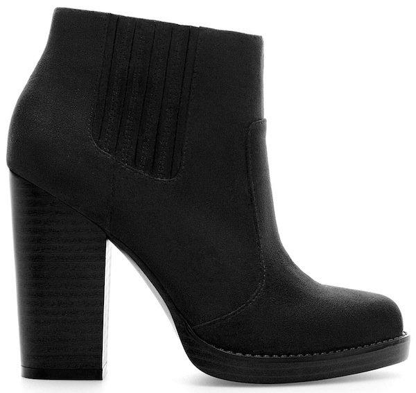 Zara Black High Heel Ankle Boots