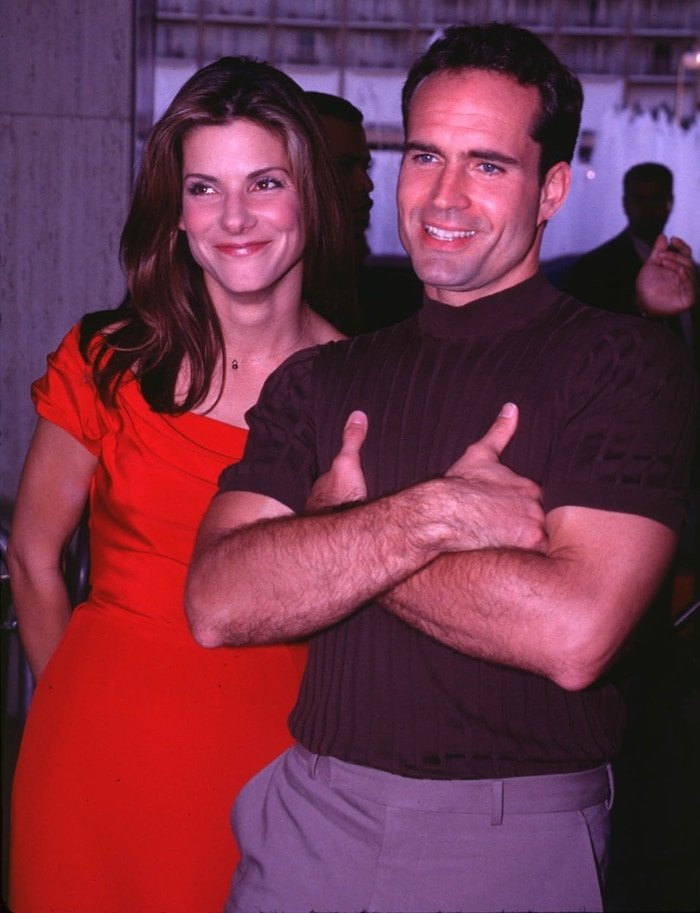 Actress Sandra Bullock and actor Jason Patric attend the 'Speed 2: Cruise Control' Century City Premiere on June 9, 1997