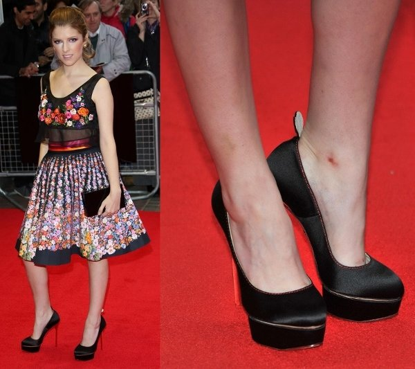 Anna Kendrick at the premiere of 'Drinking Buddies' at the BFI London Film Festival on October 18, 2013