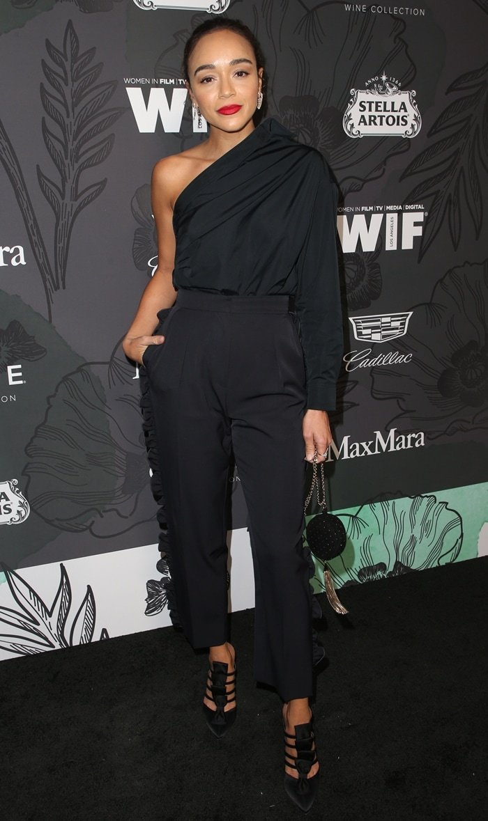 Ashley Madekwe's Max Mara Spring 2019 look at the 2019 Women in Film Oscar Party
