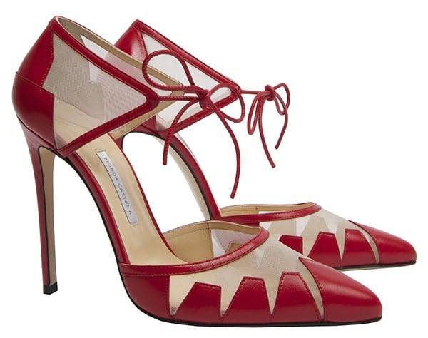 Bionda Castana Lana Pumps Red Leather