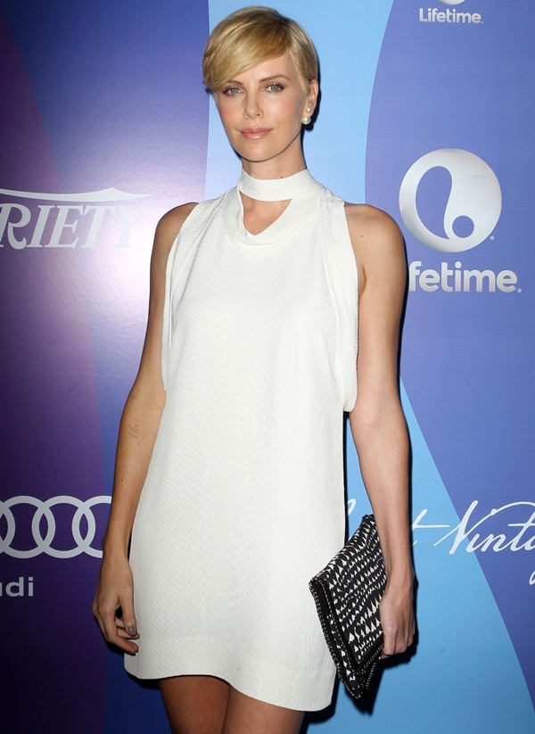 Charlize Theron at Variety's Fifth Annual Power of Women event held at Beverly Wilshire Four Seasons Hotel in Beverly Hills, California, on October 4, 2013
