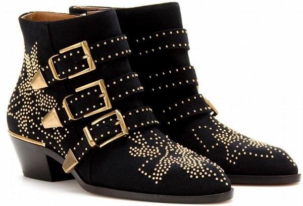 Chloe 'Susanna' Studded Ankle Boots