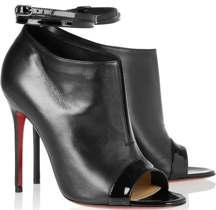 Christian Louboutin Diptic Leather Ankle Boots