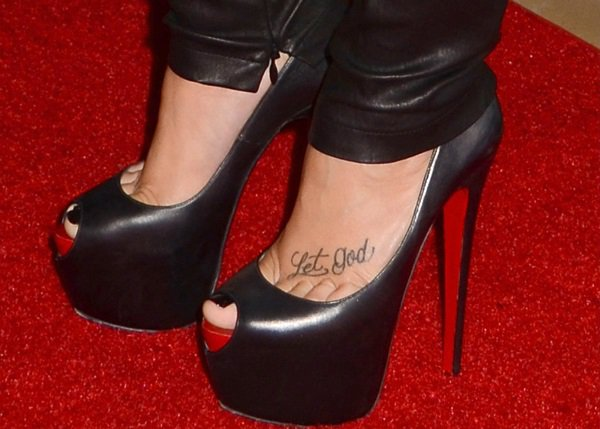 Demi Lovato rocks Christian Louboutin Highness peep-toe shoes
