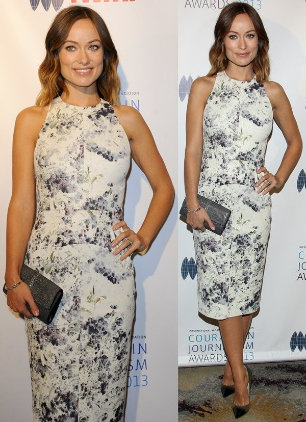 Olivia Wilde at the 2013 International Women's Media Foundation's Courage in Journalism Awards at The Beverly Hills Hotel in Beverly Hills, California, on October 29, 2013