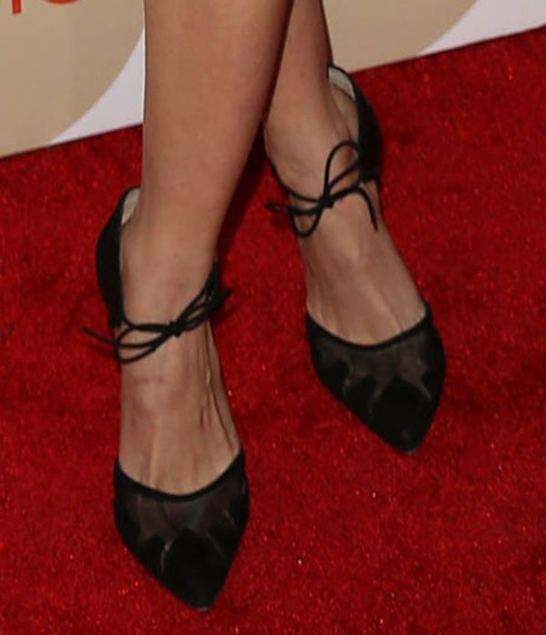 Debby Ryan shows off her feet in Bionda Castana pumps