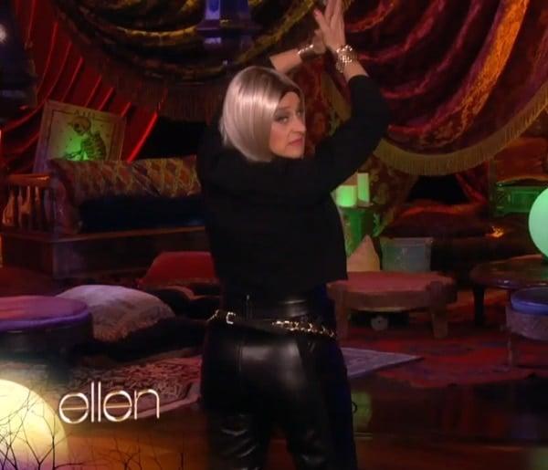 Ellen opening The Ellen DeGeneres Show as Nicki Minaj on October 31, 2013