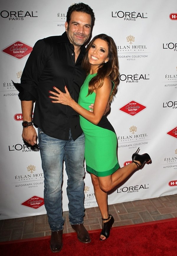 Eva Longoria with on-screen hubby Ricardo Antonio Chavira at the 6th Annual Eva's Heroes Celebrity Casino Night