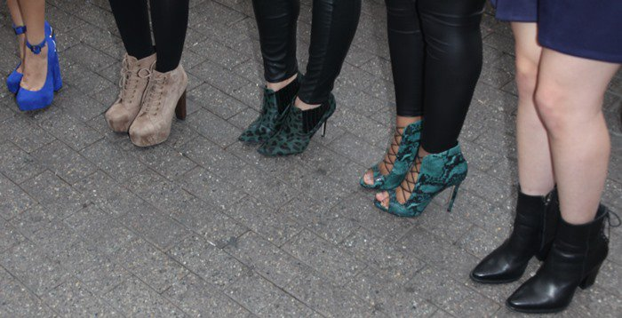 The ladies of Fifth Harmony sport a variety of heels on their feet