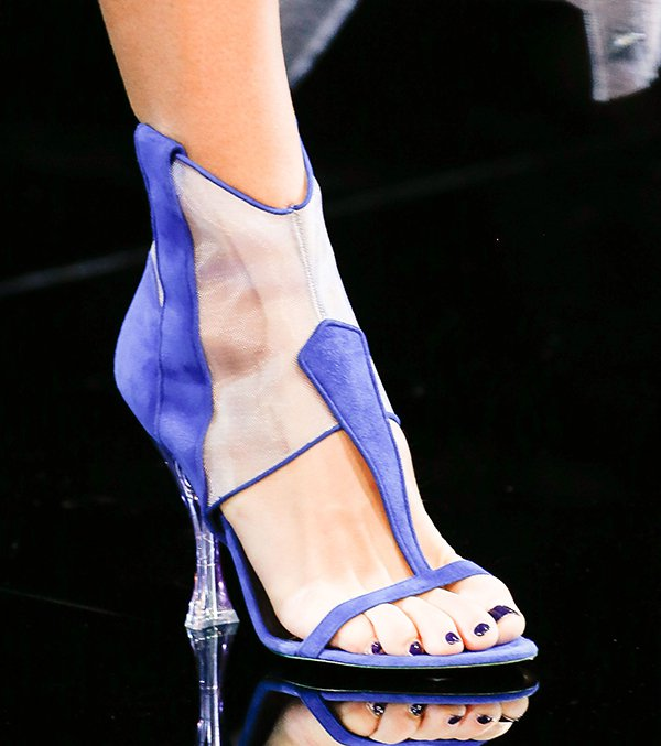 Giorgio Armani sandals with Plexiglass heels