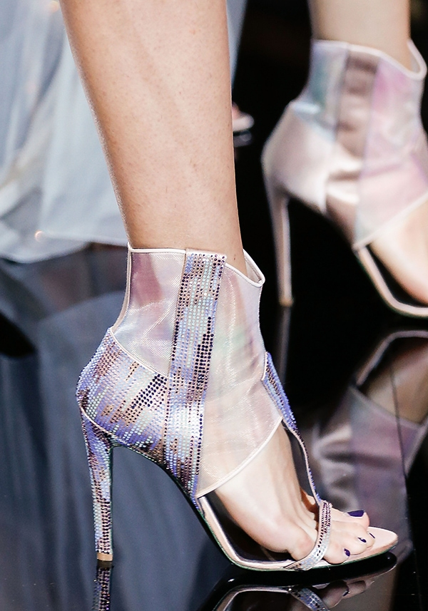 Giorgio Armani sandals with sparkling crystals