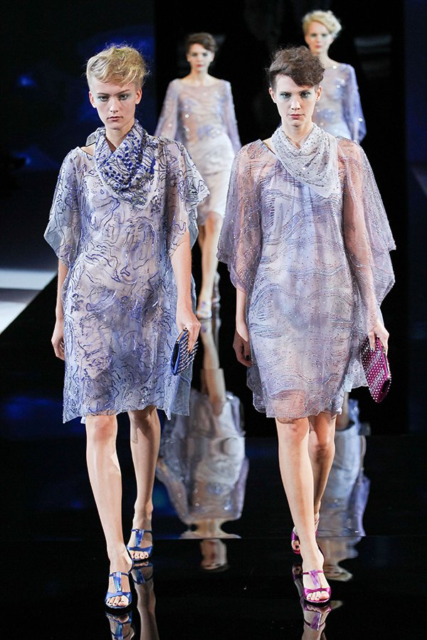 Giorgio Armani's show at Milan Fashion Week Womenswear Spring/Summer 2014 in Milan, Italy, on September 23, 2013
