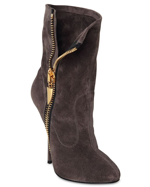 Giuseppe Zanotti Suede Zipped Boots
