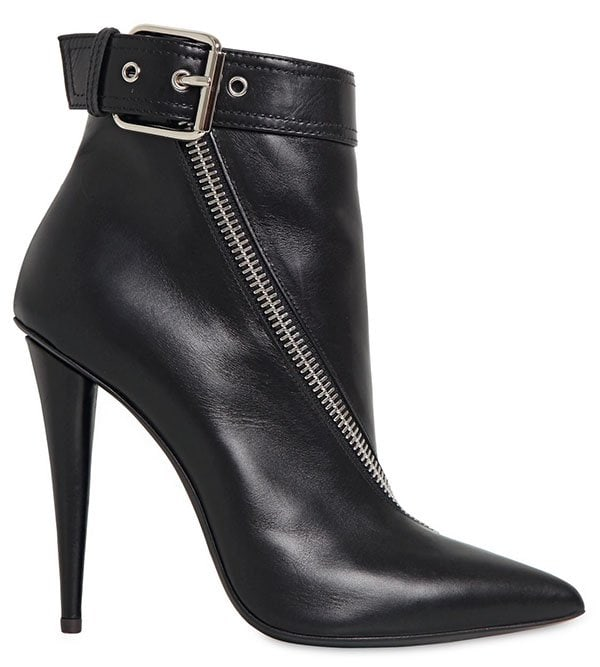 Giuseppe Zanotti Zipped Boots in Black Leather