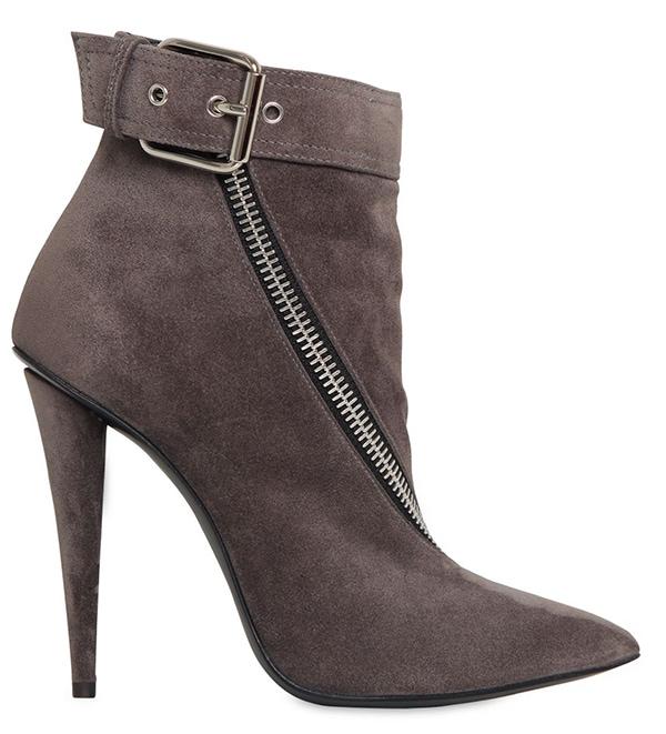 Giuseppe Zanotti Zipped Boots in Grey Suede