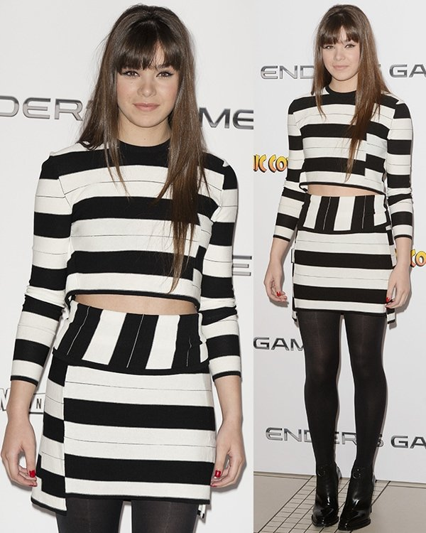 Hailee Steinfeld at the photo call for 'Ender's Game' at Odeon Leicester Square in London on October 7, 2013
