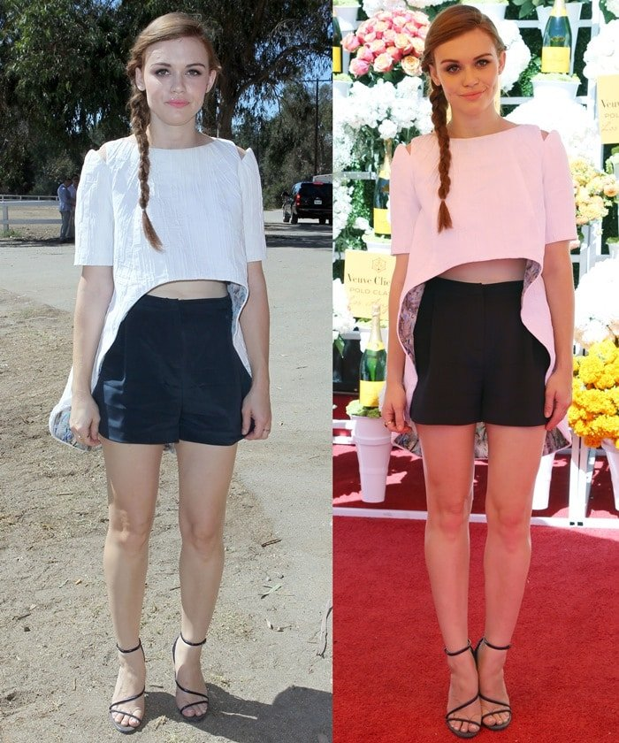 Holland Roden at the Fourth-Annual Veuve Clicquot Polo Classic Held at Will Roger's Polo Grounds on October 5, 2013