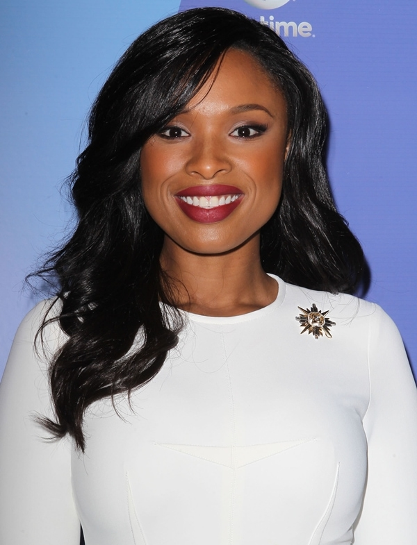 Jennifer Hudson wearing a polished number by Yigal Azrouel