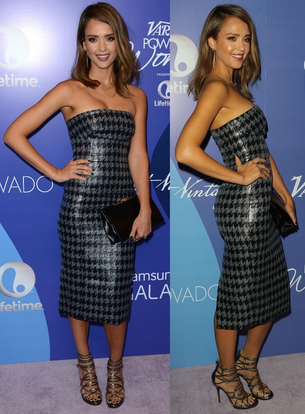 Jessica Alba at Variety's Fifth Annual Power of Women event in Beverly Hills, California, on October 4, 2013