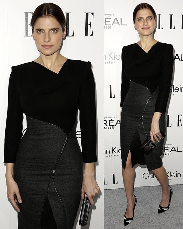 Lake Bell looked fashion-forward in her Altuzarra Fall 2013 dress