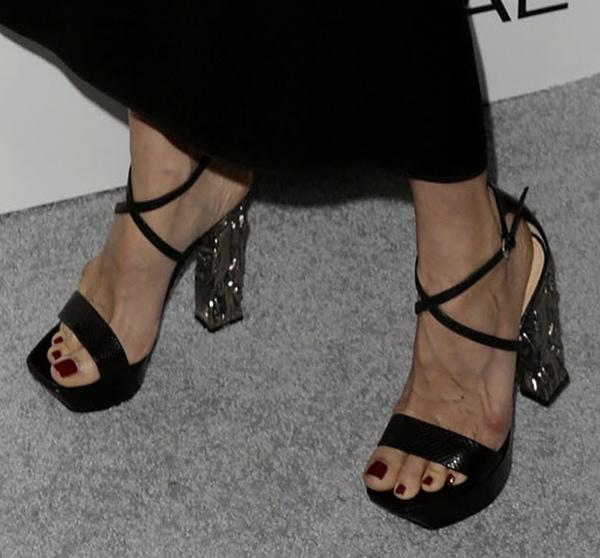 Laura Dern wearing Calvin Klein sandals