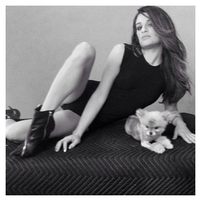 Lea Michele introduced the world to her new dog Pearl via social media