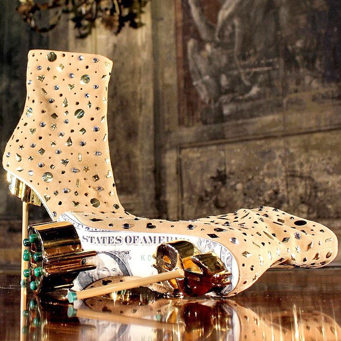 Massimo Dogana Shoes With Dollar Bills and Dollar Signs