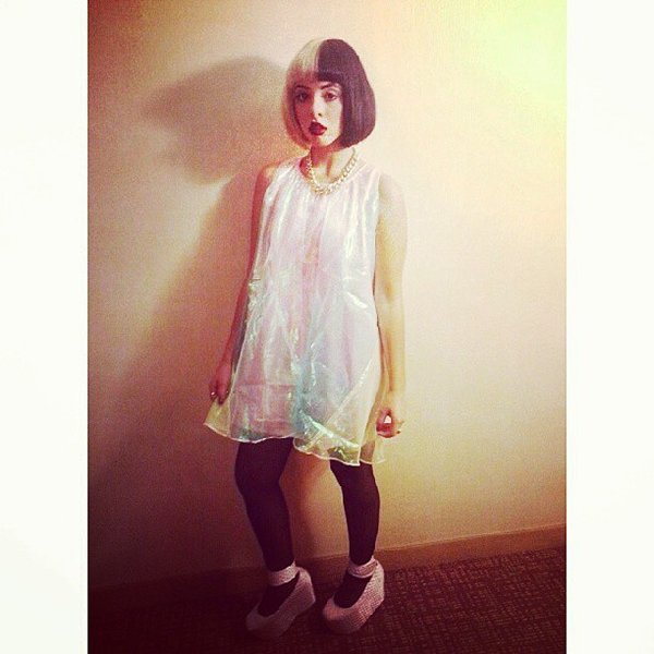 Melanie Martinez's Instagram photo of her outfit for her concert at The Observatory in Santa Ana, California, on October 5, 2013