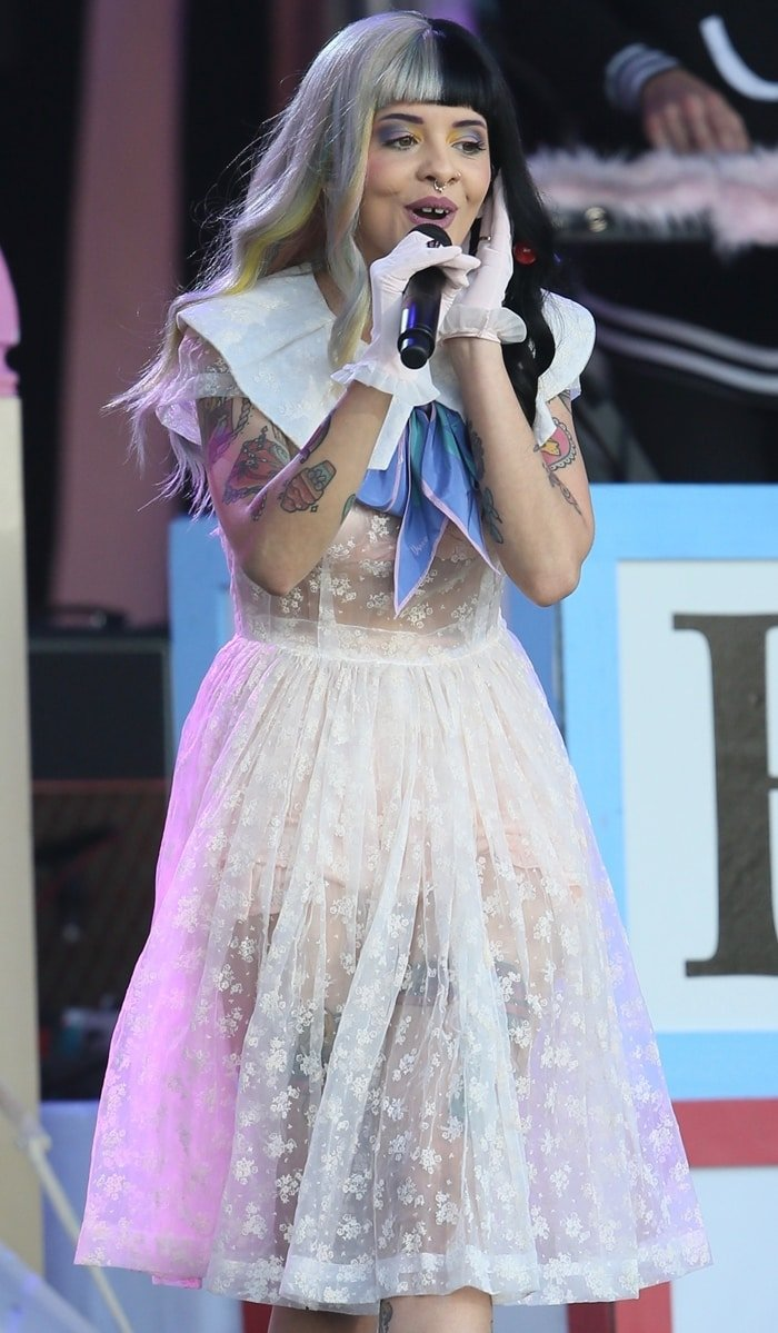 Melanie Martinez hit the stage for a performance on Jimmy Kimmel Live