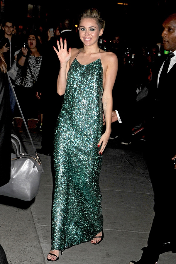 Miley Cyrus at the 30th Annual Night of Stars Gala presented by the Fashion Group International at Cipriani Wall Street in New York City on October 22, 2013