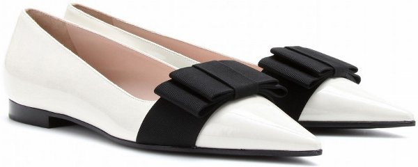 Miu Miu Patent Ballerina Flats