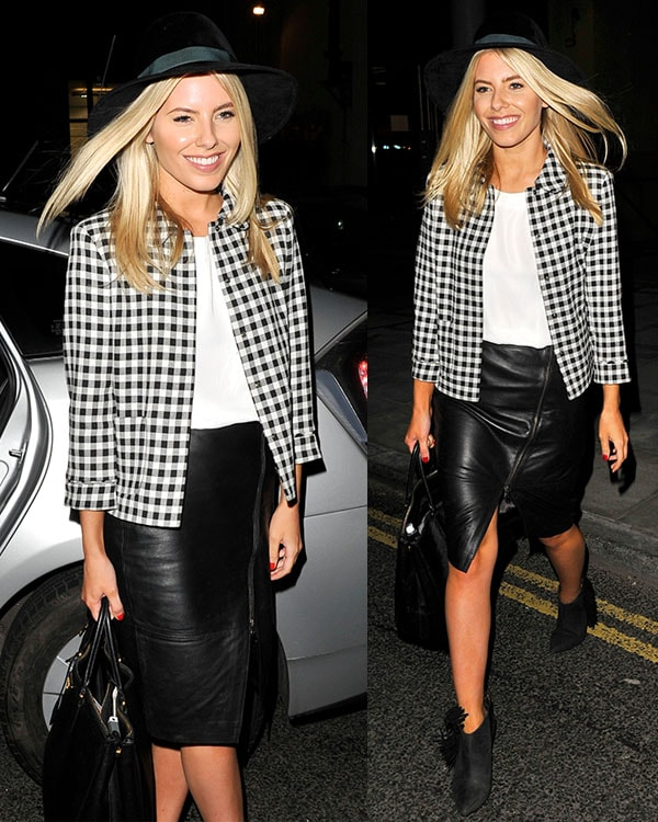 Mollie King of The Saturdays launching their new album, Living for the Weekend, at the Google Hangout in London on October 8, 2013