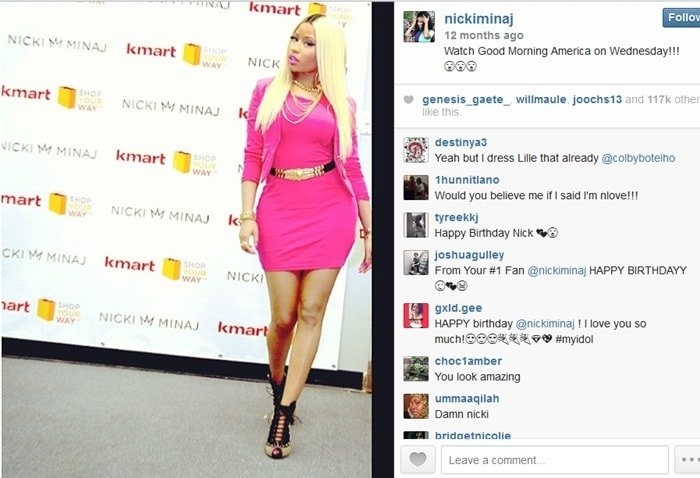 Nicki Minaj sported her favorite color - pink