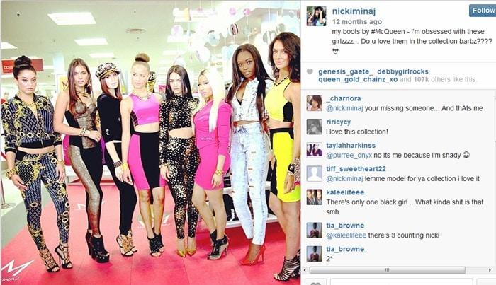 Nicki Minaj was at Kmart taping for an appearance on 'Good Morning America'