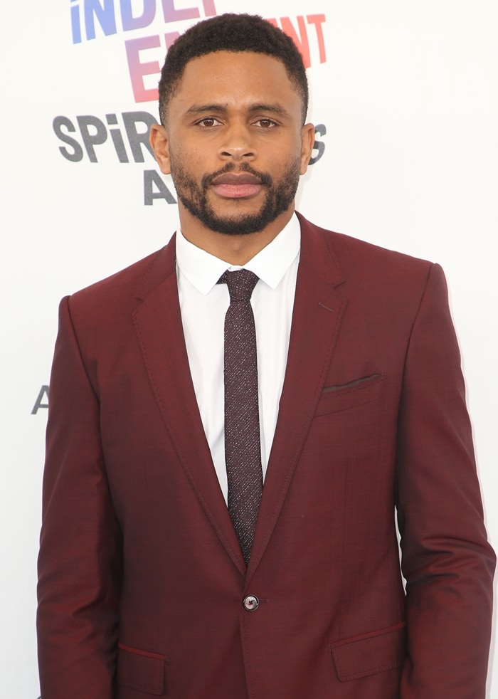 Actor Nnamdi Asomugha attends the 33rd annual Film Independent Spirit Awards