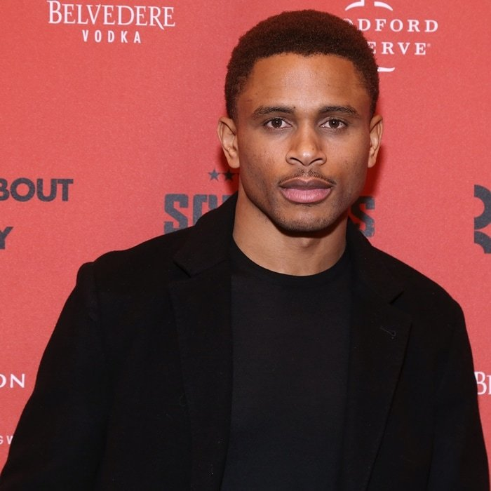 Nnamdi Asomugha, who has an estimated net worth of $35 million dollars, attends the opening night for A Soldier's Play